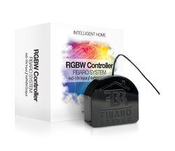 Fibaro RGB Module Kabellos Schwarz Smart Home Beleuchtungssteuerung