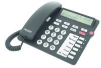 Tiptel 1081000 Analoges Telefon Anrufer-Identifikation Schwarz Telefon
