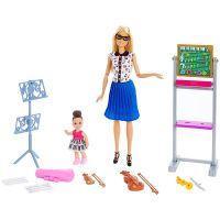 Mattel Barbie Musiklehrerin-Puppe (blond) und Spielset (FXP18)