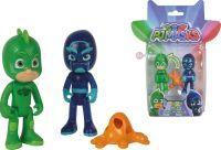 Simba PJ Masks Light-Up Figurenset Set Gecko+Ninja, Spielfigur (109402149)