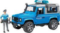 bruder Land Rover Defender Station Wagon Polizeifahrzeug, Modellfahrzeug (02597)