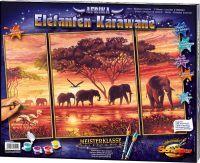 Malen nach Zahlen MNZ - Elefanten-Karawane (Triptychon) (63608050)