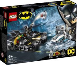 LEGO 76118 Super Heroes Batcycle-Duell mit Mr. Freeze, Konstruktionsspielzeug (76118)
