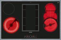 Siemens Glaskeramik Kochfeld mit Abzug ET845FM11E Flachrahmen