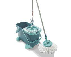 Leifheit Set CLEAN TWIST Disc Mop mit Rollwagen (52052)