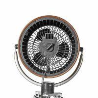 Nedis Dreibein Ventilator / Durchmesser: 250 mm / 3-Geschwindigkeitsstufen / Verstellbare Höhe / 45 W / Richtungsluftstrom / Holz