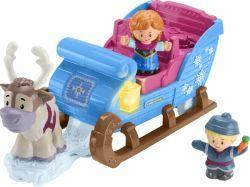 Fisher-Price Little People Frozen Kristoffs Schlitten, Spielfigur (GGV30)