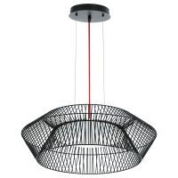 EGLO LED-Hängeleuchte  18W SCHWARZ/WS/ROT 'PIASTRE' (93985)