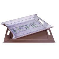 FREEFORM DUO - Motivdruck-Wendetablett, klein, Country Home/Taupe, Kunstleder, Maße: 45 x 35 cm (FFT