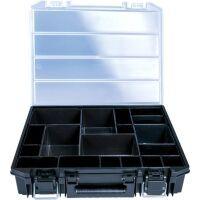 Haupa Sortimentskasten mit Metallverschlüssen inkl. Kleinteilboxen