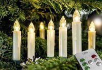 LED Baumkerze 10 Kerzen kabellos mit FB incl. Batterien (19624-10)