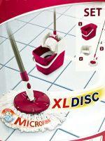 Leifheit Combi Press Disc Mop XL Set Bodenwischer Wischmop pink
