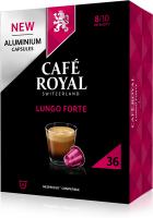 Cafe Royal Kaffeekapseln für Nespressomaschinen Lungo Forte 36 Stück