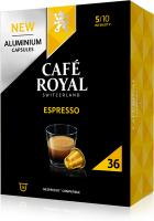 Cafe Royal Kaffeekapseln für Nespressomaschinen Espresso 36 Stück