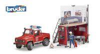bruder bworld Feuerwehrstation mit Land Rover (33112505)