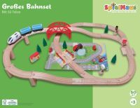 Spielmaus Holz SMH Eisenbahn-Spielset 50-teilig (42523381)