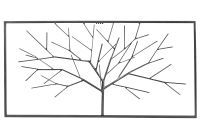 """Multipack  Wandobjekt """"Baum"""" Eisen silber (9331170) - 2 Stück"""