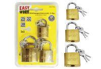 Multipack EASY WORK EW Vorhangschlosssatz 3-tlg. (78075) - 6 Stück
