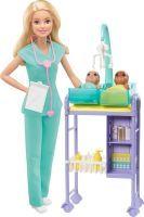 Mattel BRB Kinderärztin Puppe (blond) & Spielse (57135107)