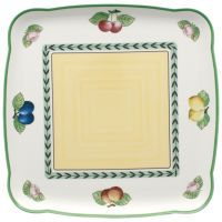 Villeroy & Boch Charm & Breakfast French Garden Platte quadratisch
