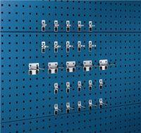 BOTT Werkzeughaltersortiment 25-tlg.verzinkt für Lochplatten 15 Haken/10 Klemmen