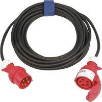 CEE-Verlängerung mit Phasenwender 32 A 400 V 25 m H07RN-F 5 x 4 mm² schwarz IP44