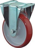 Bockrolle Rad-Ø 125 mm Tragfähigkeit 150 kg Guß-Polyurethan Platte L104xB80 mm