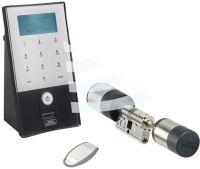 BURG-WÄCHTER Elektronisches Türschloss secuENTRY easy plus 5652 mit Codetastatur und Fingerprint wei