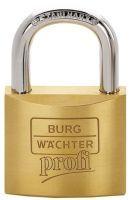 BURG-WÄCHTER Zylindervorhangschloss 116/50 Schlosskörperbreite 50 mm Messing verschiedenschließend