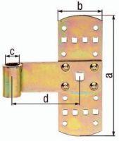 GAH Kreuzband Breite 50 mm Länge 140 x 50 mm Stärke 2 mm Stahl galvanisch gelb verzinkt