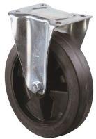 Bockrolle Rad-Ø 100 mm Tragfähigkeit 140 kg Vollgummi Platte L104xB80 mm