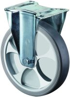 Bockrolle Rad-Ø 125 mm Tragfähigkeit 120 kg thermoplastisch Kunststoff Platte L104xB80 mm