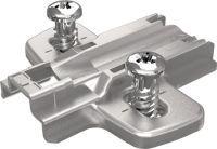 HETTICH Montageplatte Sensys Stahl vernickelt 0 mm vormontierte Euroschrauben