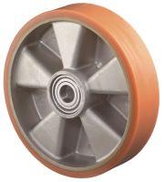 Ersatzrad Rad-Ø 125 mm Tragfähigkeit 450 kg Gußpolyurethan-Bandage Achs-Ø 20 mm Nabenlänge 60 mm