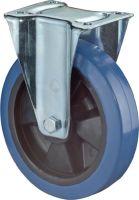 Bockrolle Rad-Ø 200 mm Tragfähigkeit 300 kg Kunststoff Platte L138xB109 mm