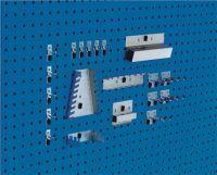 BOTT Werkzeughaltersortiment 20-tlg.verzinkt für Lochplatten 10 Haken/5 div.Halter/5 Werkzeugklemmen