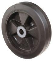 Ersatzrad Rad-Ø 100 mm Tragfähigkeit 140 kg Gummi schwarz Achs-Ø 12 mm Nabenlänge 40 mm