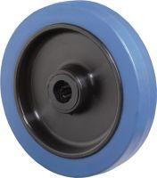 Ersatzrad Rad-Ø 125 mm Tragfähigkeit 140 kg Gummi blau Achs-Ø 15 mm Nabenlänge 50 mm