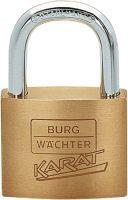 BURG-WÄCHTER Messing-Zylinderschloss 217 40 Schlosskörperbreite 40 mm Messing verschiedenschließend