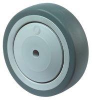 Ersatzrad Rad-Ø 80 mm Tragfähigkeit 80 kg Gummi grau Achs-Ø 8 mm Nabenlänge 37 mm