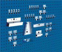 BOTT Werkzeughaltersortiment 40-tlg. verzinkt für Lochplatten 10 Haken/10 Doppelhaken/20 div. Halter