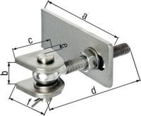 GAH Verstellbares Torband 146x23x55x130x28x50mm Edelstahl