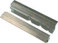 HAARHAUS Schraubstockschutzbacke 47/5 P für Backenbreite 160 mm Prismen Aluminium