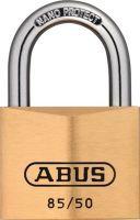 ABUS Zylindervorhangschloss 85/50 Schlosskörperbreite 50 mm Messing verschiedenschließend