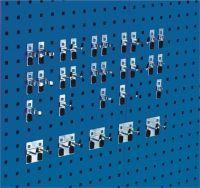 BOTT Werkzeughaltersortiment 30-tlg.verzinkt für Lochplatten 10 Haken/5 Doppelhaken/