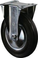 Bockrolle Rad-D. 200 mm Tragfähigkeit 205 kg Vollgummi Platte L135xB110 mm