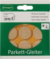 Parkettgleiter Premium 28 mm Filz natur rund selbstklebend