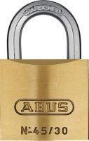 ABUS Zylindervorhangschloss 45/30 Schlosskörperbreite 29 mm Messing verschiedenschließend