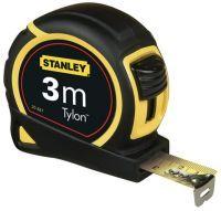 STANLEY Taschenrollbandmaß Tylon Länge 3 m Breite 12,7 mm mm/cm EG II Kunststoff Doppelendhaken