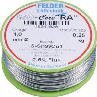 FELDER Lötdraht ISO-Core® RA 1,5 mm 250 g S-Sn99Cu1